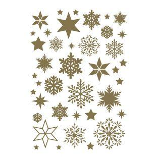 Golden Snowflakes Decal Sheet