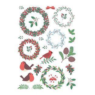 Hoja de calcomanías navideñas clásicas