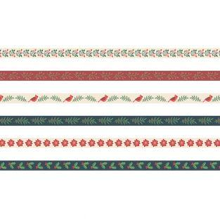 6 printed ribbons 1m Merry Christmas