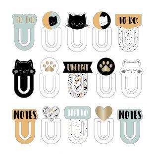 15 marcadores de cartón Terrazzo Cat