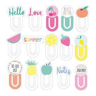 15 marque-pages cartonnés Tutti Frutti