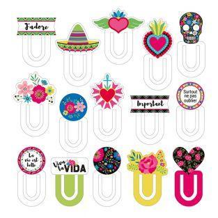 15 Lesezeichen aus Pappe von Viva la...