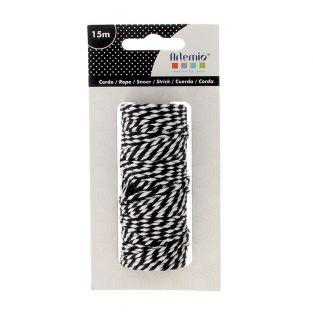 White and black rope 15m