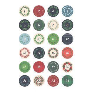 Round Calendar Front Textile Decal Sheet
