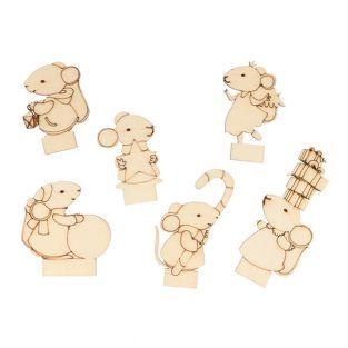 6 mouse place cards