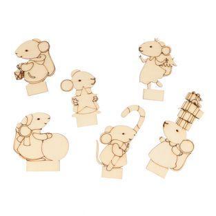 6 tarjetas de asientos Ratón