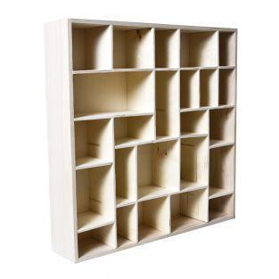 Etagère bois 24 cases 45 x 45 cm