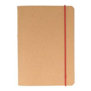 Quadratisches Notizbuch mit Gummibändern
