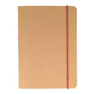 Squared notebook with elastic bands