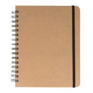 Squared kraft notebook with spirals