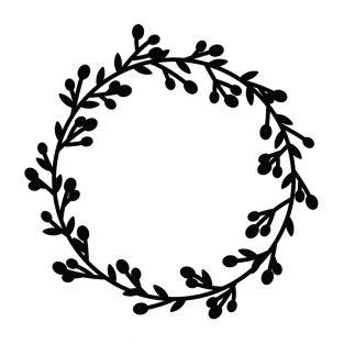 Merry Christmas wreath cutting die 9.5cm