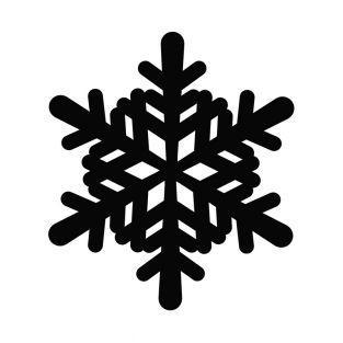 Large snowflake cutting die 10.4X9.2cm