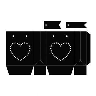 3 matrices de découpe Sac 12,5 x 24,2 cm