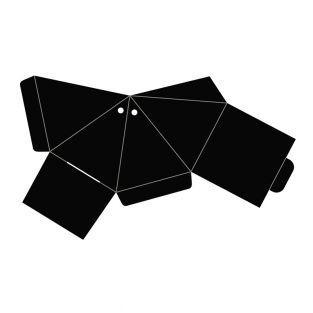 Pyramid cutting die 13,7X23cm