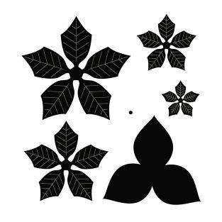 6 troqueles de corte Poinsettia 10,8 cm