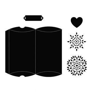 5 matrice de découpe Boîte coussin 8...