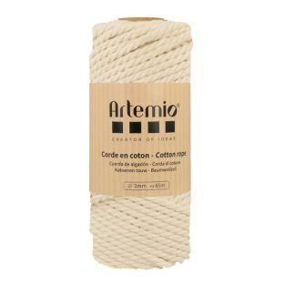 Ecru cotton rope 3mm / 65m