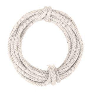 Tube tricoté avec fil, ivoire, 3 m