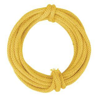 Knitted tube with thread, yellow, 3m