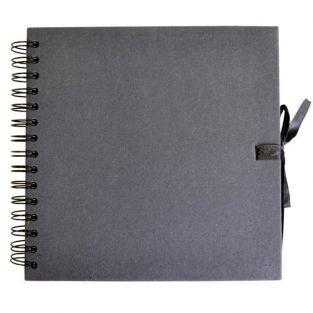 Scrapbooking Buch 20 x 20 cm - schwarz