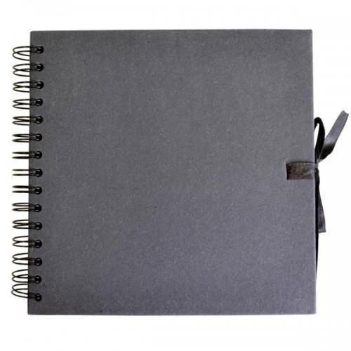 Carnet Scrapbooking 20 x 20 cm - Noir