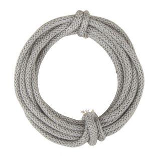 Knitted tube with thread, gray, 3m