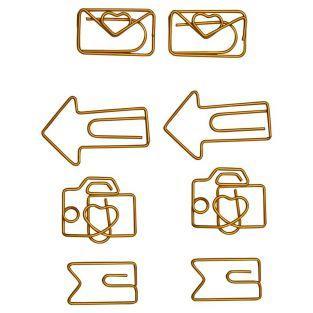 Original Gold Büroklammern