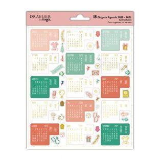 Organizational calendar stickers