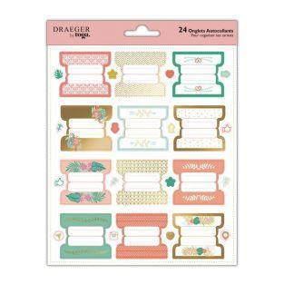 Stickers pastel & dorés pour carnets