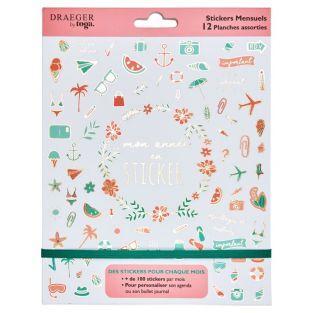 Stickers 12 mois pour bullet journal