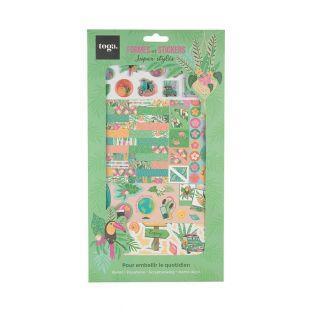 Kit di decorazione verde tropicale