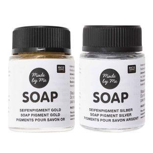 Gold and silver soap pigments - 2x20 ml