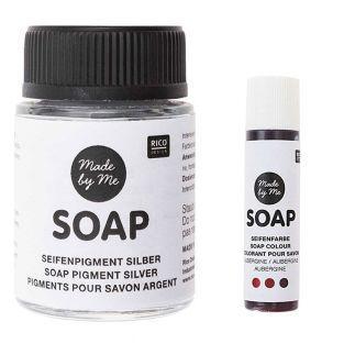 Pigment argenté pour savon 20 ml +...