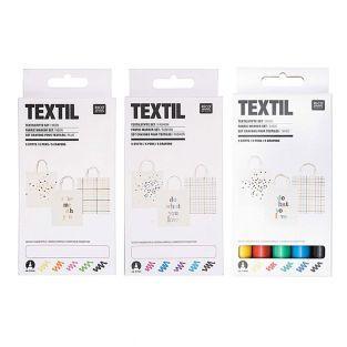 15 feutres textiles - basic, fashion...