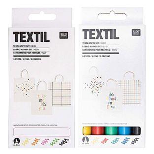 10 feutres textiles - basic & fluo