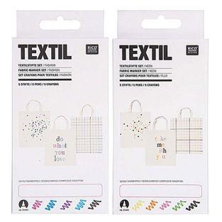 10 feutres textiles - fashion & fluo