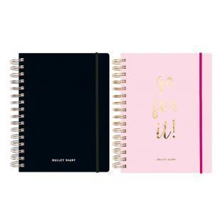 2 agendas Bullet journal rose et noir...