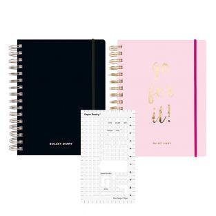 Pack 2 Special Diaries Spiral Bullet...