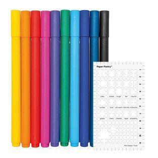 10 fine gel pens 0.4 mm + food...