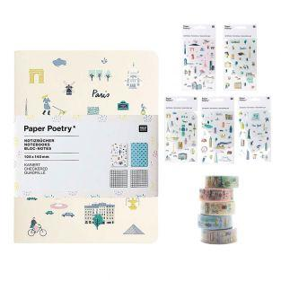 2 bloc-notes A6 + 5 masking tapes +...