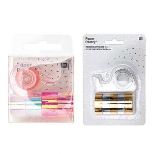 10 mini masking tapes iridescent 1,2...