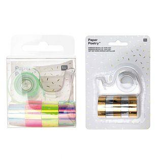 10 mini masking tapes iridescent...