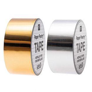 2 Abdeckbänder Spiegel Silber + Gold...
