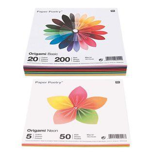 250 sheets for origami Basic + Fluo...