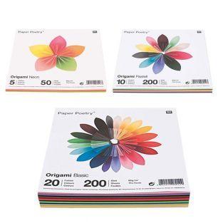 450 hojas para origami Basic + Pastel...
