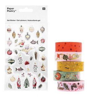 5 masking tape 10 m + Stickers en gel...