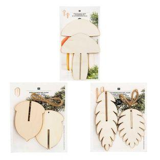Wooden Christmas Decoration Pack - 3...