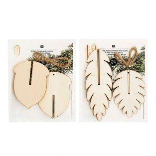 Pack Wooden Christmas decorations - 3...
