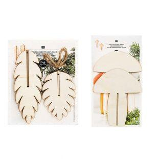 Wooden Christmas ornaments - 3 pine...