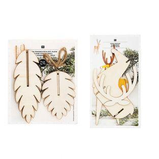 Adornos navideños de madera - 3 piñas...
